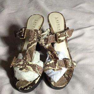 Lauren Ralph Lauren Snakeskin Sandals
